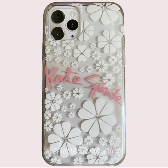 kate spade iPhone 11 pro case spade flower & gems